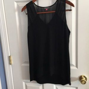 Vince Camuto Black Sleeveless Top